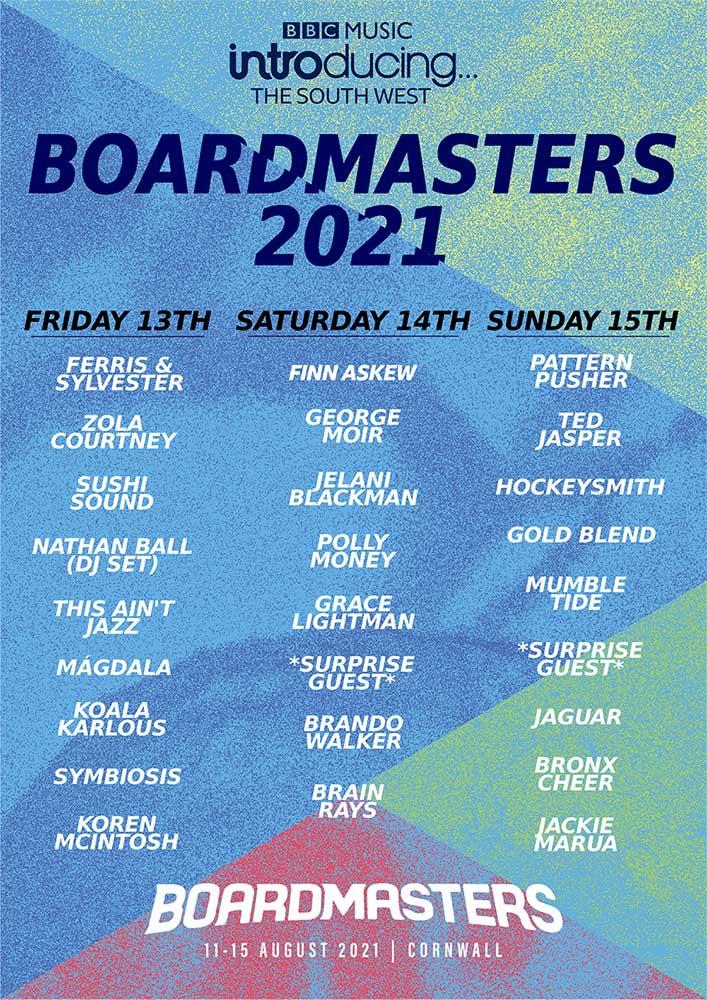 Boardmasters 2021 - LINE-UP